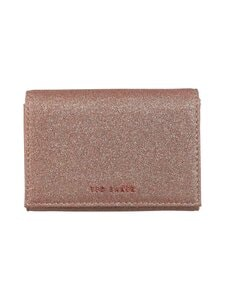 Ted Baker London - Becckaa Glitter Small Fold Purse -nahkalompakko - 57 ROSEGOLD | Stockmann