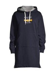 GANT - Nautical Hoodie Dress -collegemekko - 433 EVENING BLUE | Stockmann