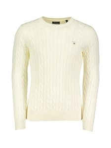 GANT - Cable Crew -puuvillaneule - 130 CREAM | Stockmann