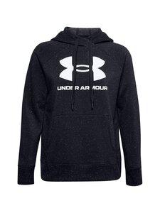 Under Armour - Rival Fleece Logo -huppari - 002 BLACK / WHITE / WHITE   Stockmann