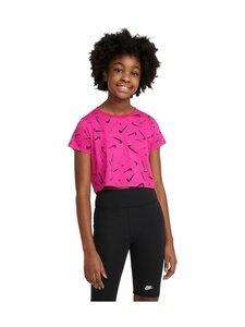 Nike - Swoosh Logo Aop Crop Tee -paita - FIREBERRY | Stockmann