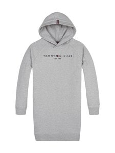 Tommy Hilfiger - Essential Hooded Sweatdress -mekko - P6U MID GREY HTR | Stockmann