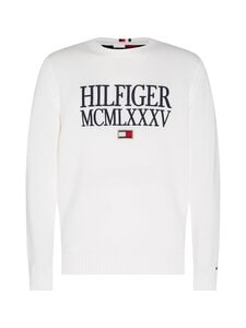 Tommy Hilfiger - Contrasted Chest Logo -puuvillaneule - YBL ECRU | Stockmann