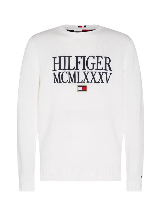 Tommy Hilfiger - Contrasted Chest Logo -puuvillaneule - YBL ECRU | Stockmann - photo 1