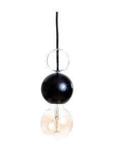 QUU Design - Medium BG -riippuvalaisin 9,5 x 15,5 cm - BLACK/GLASS | Stockmann