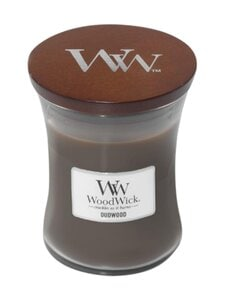 Woodwick - Oudwood Medium -tuoksukynttilä - DARK GREY | Stockmann