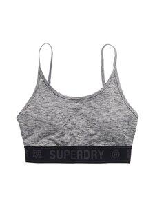 Superdry Sport - Training Logo Bra -urheiluliivit - 07Q GREY MARL | Stockmann