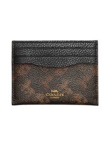 Coach - Card Case With Horse And Carriage Print -korttikotelo - B4AWV B4/BLACK BROWN | Stockmann