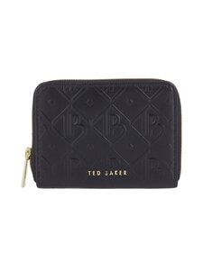 Ted Baker London - Rozitta TB Monogram Mini Zip Around -nahkalompakko - 00 BLACK | Stockmann