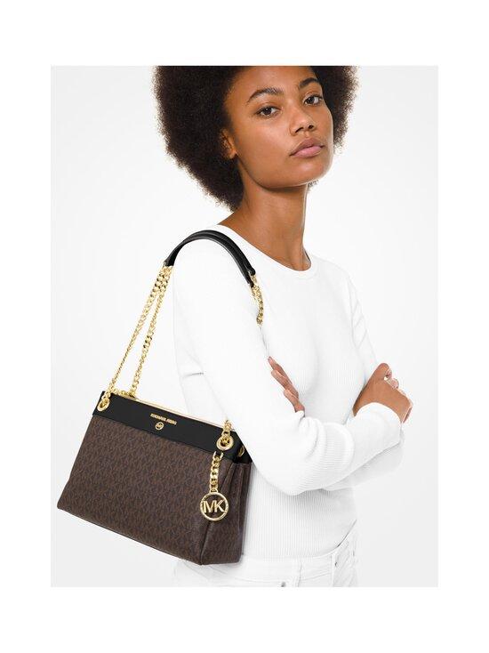 Michael Michael Kors - Susan Small Logo Convertible Shoulder Bag -laukku - 292 BROWN/BLK | Stockmann - photo 3