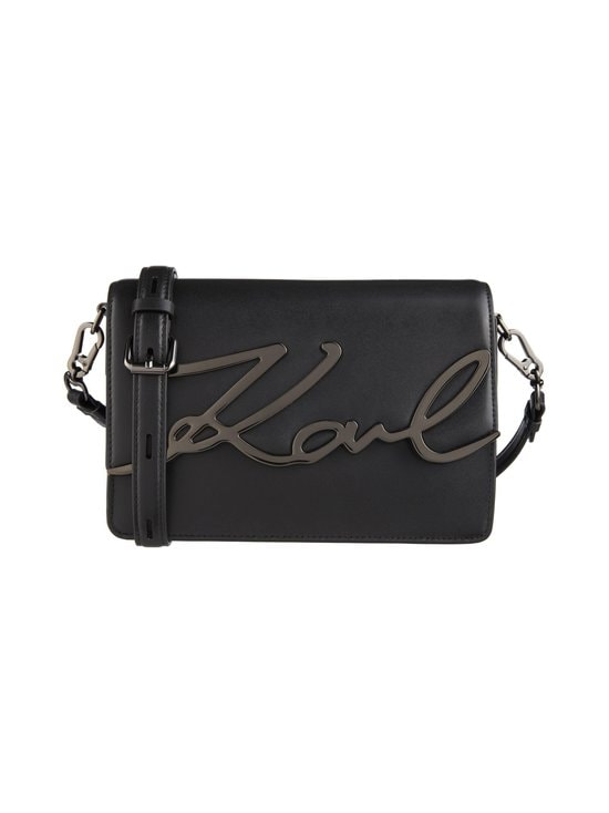 Karl Lagerfeld - K/Signature Shoulderbag -nahkalaukku - BLK/GUN METAL A991   Stockmann - photo 1
