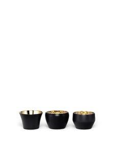 Skultuna - Kin-kynttilälyhty 3 kpl - BLACK/BRASS | Stockmann